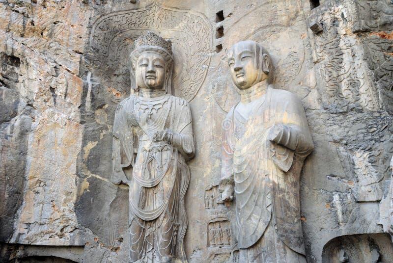 Estatuas China de Buda de la gruta de Longmen imagen de archivo