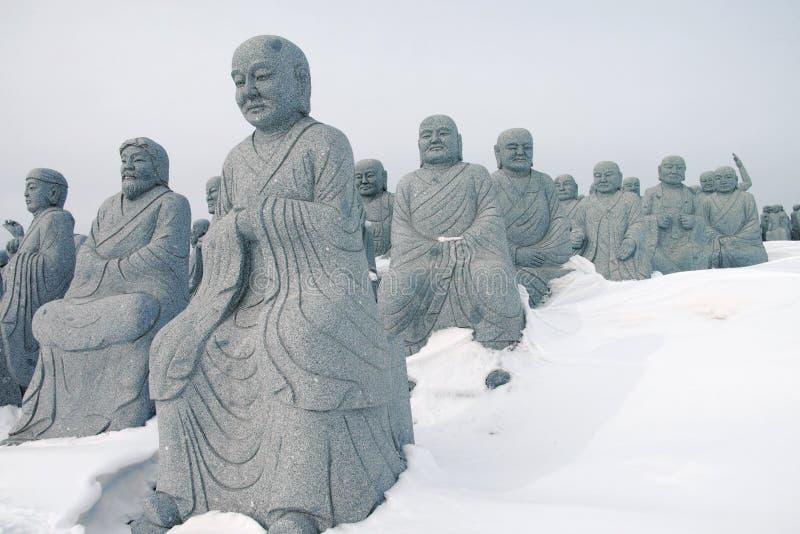 Estatuas de Arhat foto de archivo
