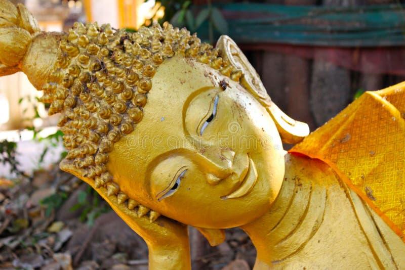 Estatuas de Buda, cara del oro Buda, Tailandia, Asia imagenes de archivo