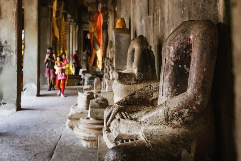Estatuas de Buda en Angkor Wat Temple, Camboya fotos de archivo