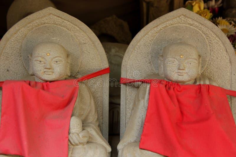 Estatuas de Jizo imagenes de archivo