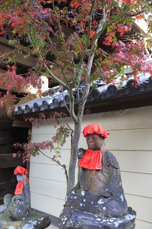 Estatuas de Jizo, templo en Matsumoto fotografía de archivo libre de regalías