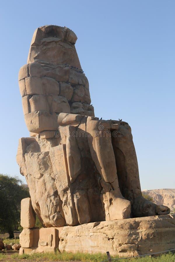 Estatuas de Memnon fotos de archivo libres de regalías