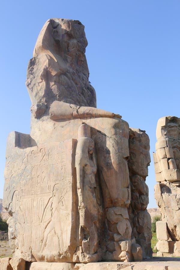 Estatuas de Memnon imágenes de archivo libres de regalías