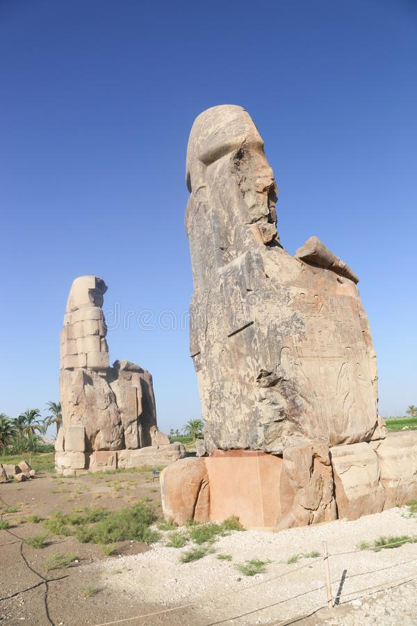 Estatuas de Memnon foto de archivo libre de regalías