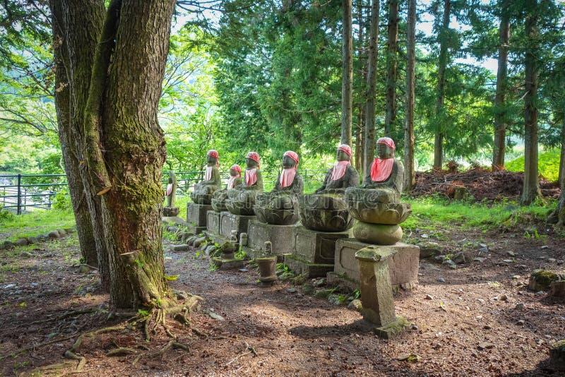 Estatuas de Narabi Jizo, Nikko, Japón fotografía de archivo