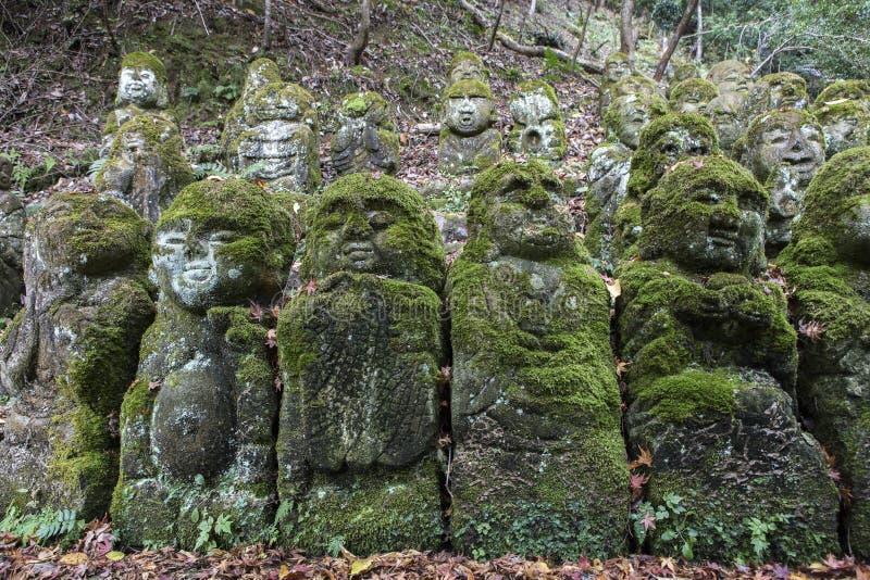Estatuas de piedra de Buda fotos de archivo libres de regalías
