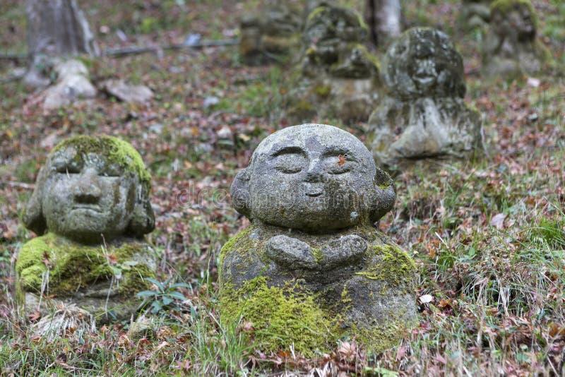 Estatuas de piedra de Buda fotografía de archivo libre de regalías