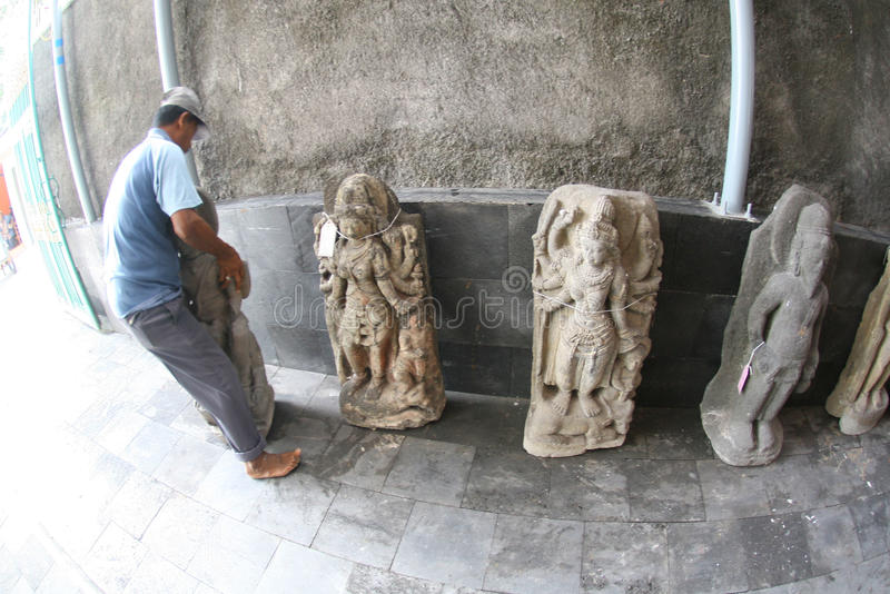 Estatuas de piedra históricas fotografía de archivo libre de regalías