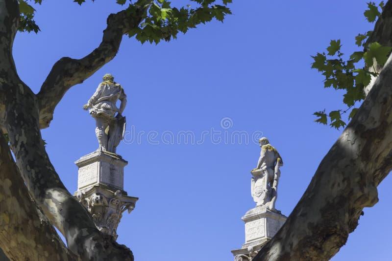 Estatuas de Twoo y un tres imágenes de archivo libres de regalías