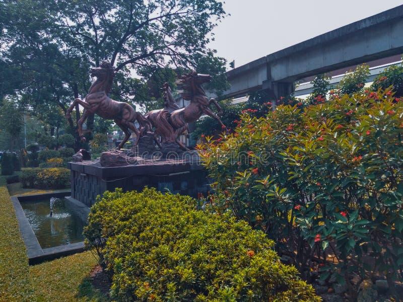 estatuas de un caballo foto de archivo libre de regalías