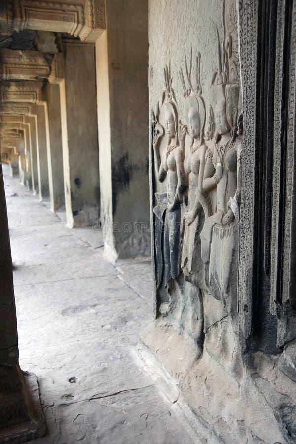 Estatuas del bailarín de Apsara fotografía de archivo