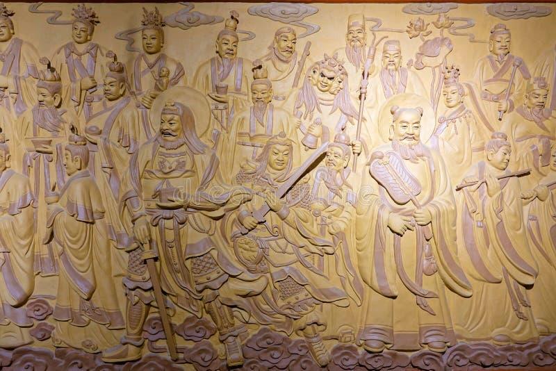 Estatuas del immortal del Taoist fotografía de archivo libre de regalías