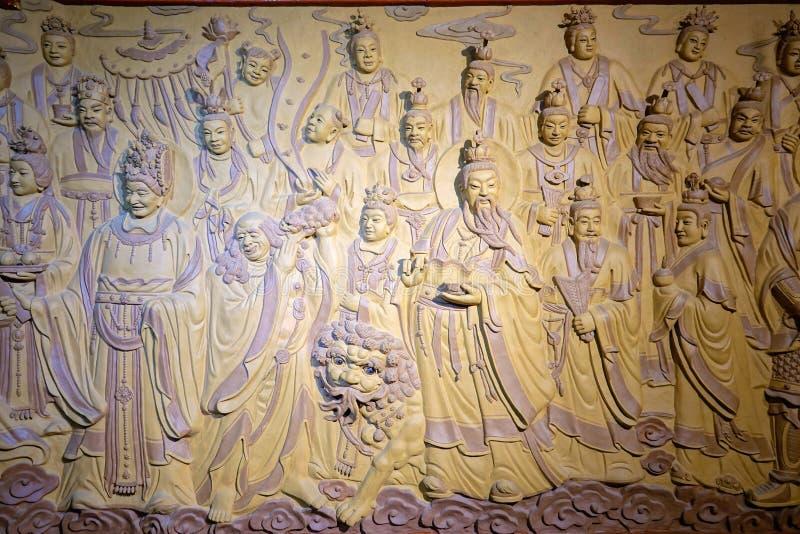 Estatuas del immortal del Taoist fotografía de archivo