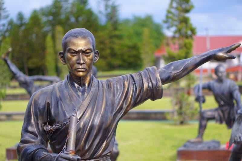 Estatuas del monje de Chainese fotografía de archivo