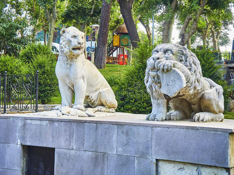 Estatuas del parque de Dogancilar Estambul, Turquía imagen de archivo libre de regalías