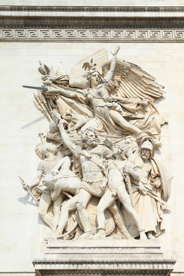 Estatuas en Arc de Triomphe foto de archivo libre de regalías