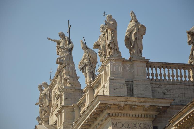 Estatuas en el palacio de Lateran foto de archivo libre de regalías