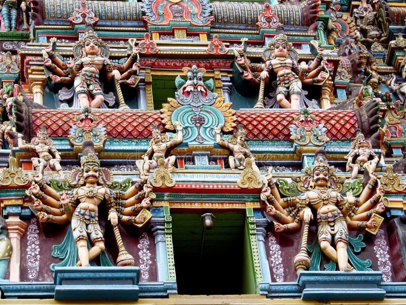 Estatuas hindúes de dioses fotos de archivo