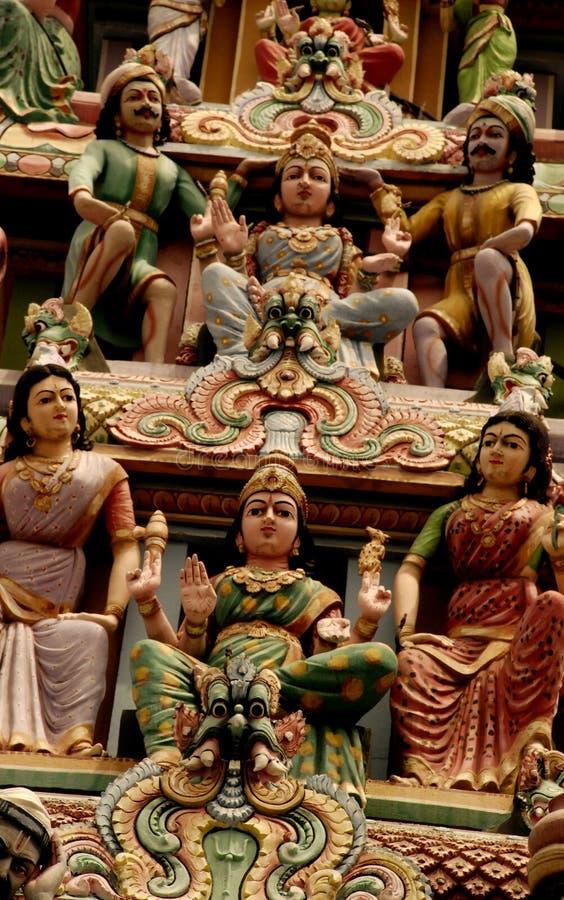 Estatuas indias del templo imagen de archivo