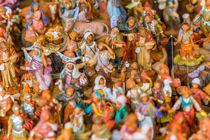 Estatuas para el pesebre de la Navidad imágenes de archivo libres de regalías
