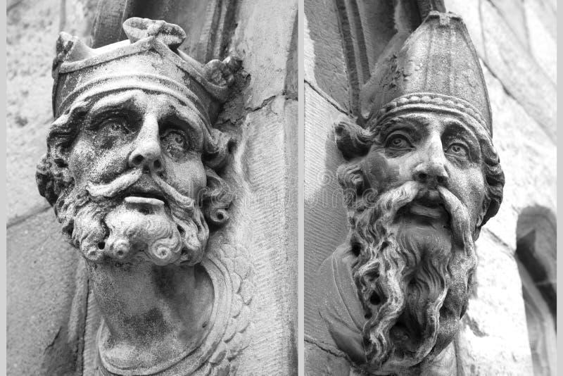 Estatuas principales talladas fotos de archivo