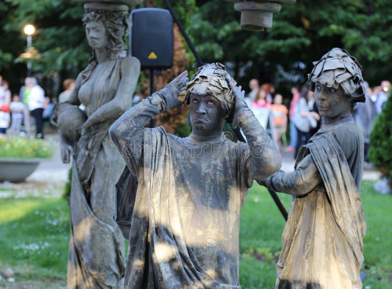 Estatuas vivas fotos de archivo libres de regalías