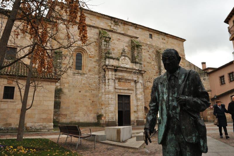 Estatue i San Ildefonso kościół, Zamora, Hiszpania fotografia royalty free