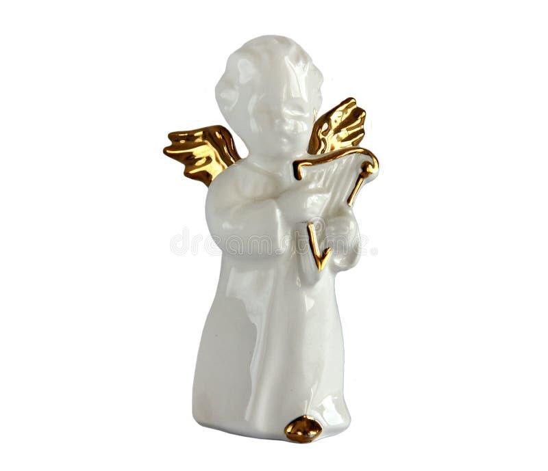 Estatueta da porcelana do anjo imagem de stock