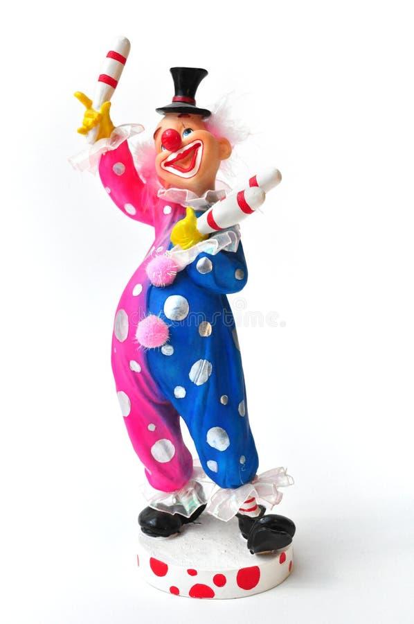 Estatueta de Clown do Juggler fotografia de stock