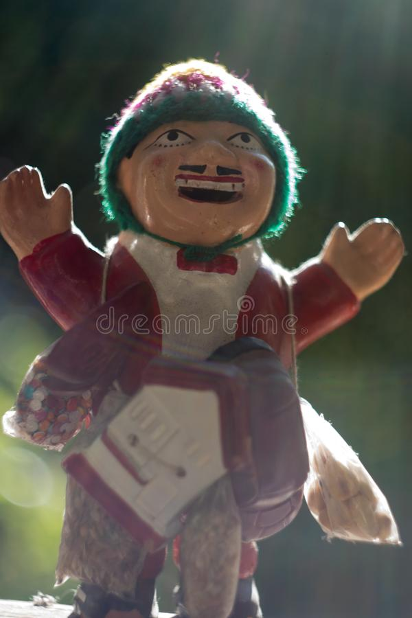 Estatueta de Ekeko - deus da abundância fotos de stock royalty free