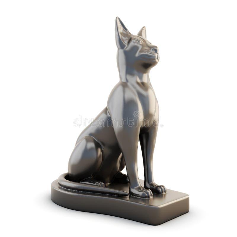 Estatueta de um gato ilustração stock