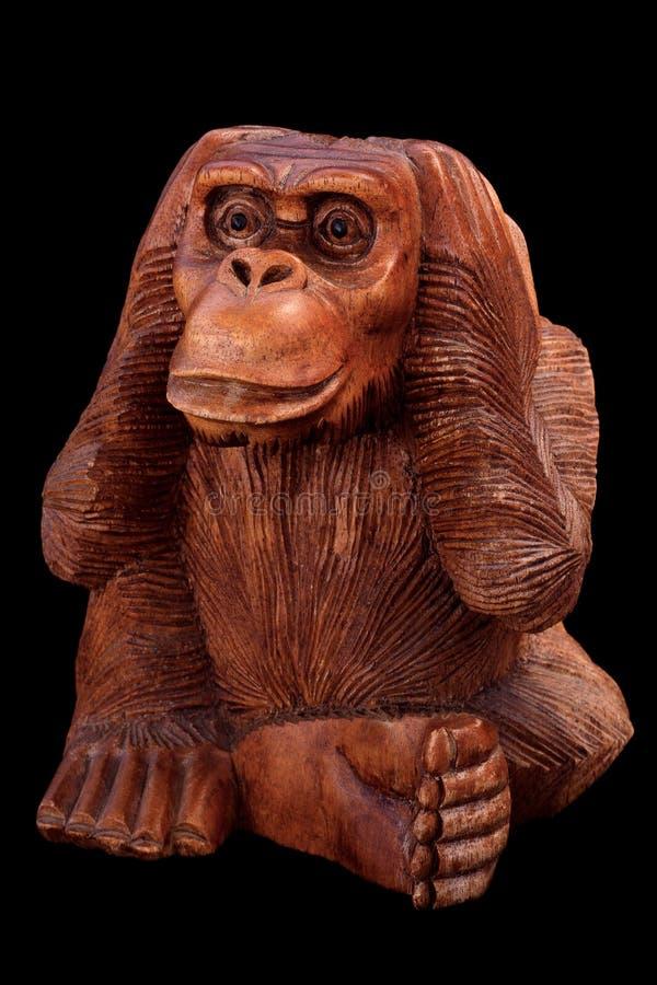 Estatueta de um macaco fotos de stock royalty free