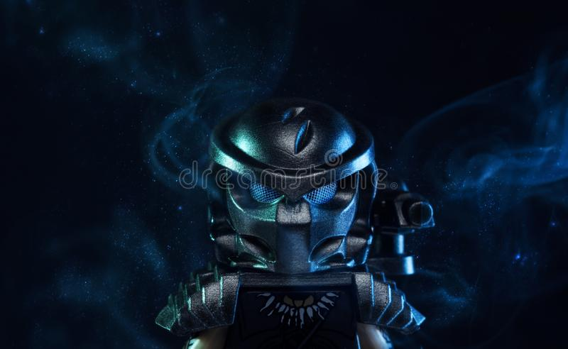Estatueta do filme de LEGO Predator fotos de stock royalty free