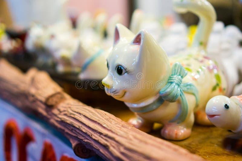 Estatueta do gato fotografia de stock