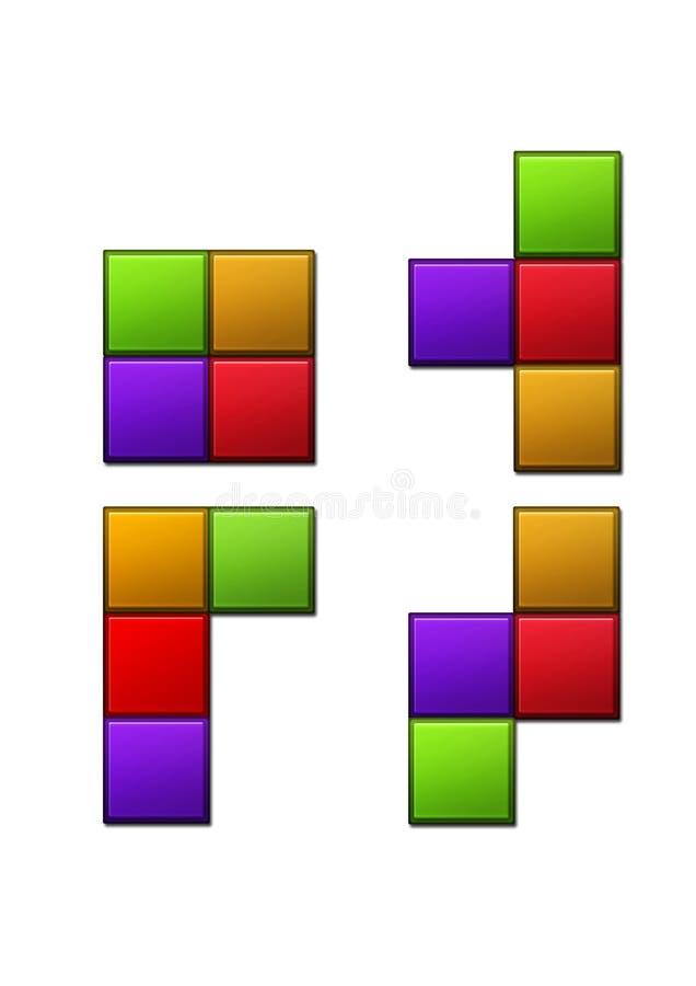 Estatuetas de Tetris para ícones foto de stock