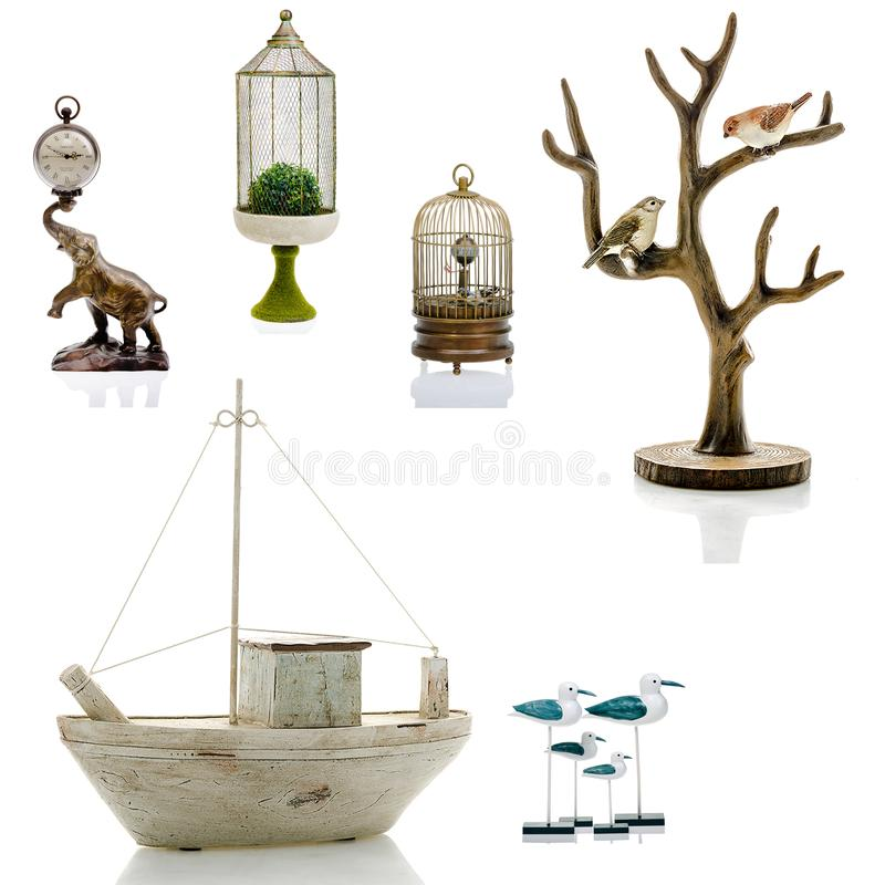 Estatuetas decorativas, estatueta, acessórios para um interior imagem de stock