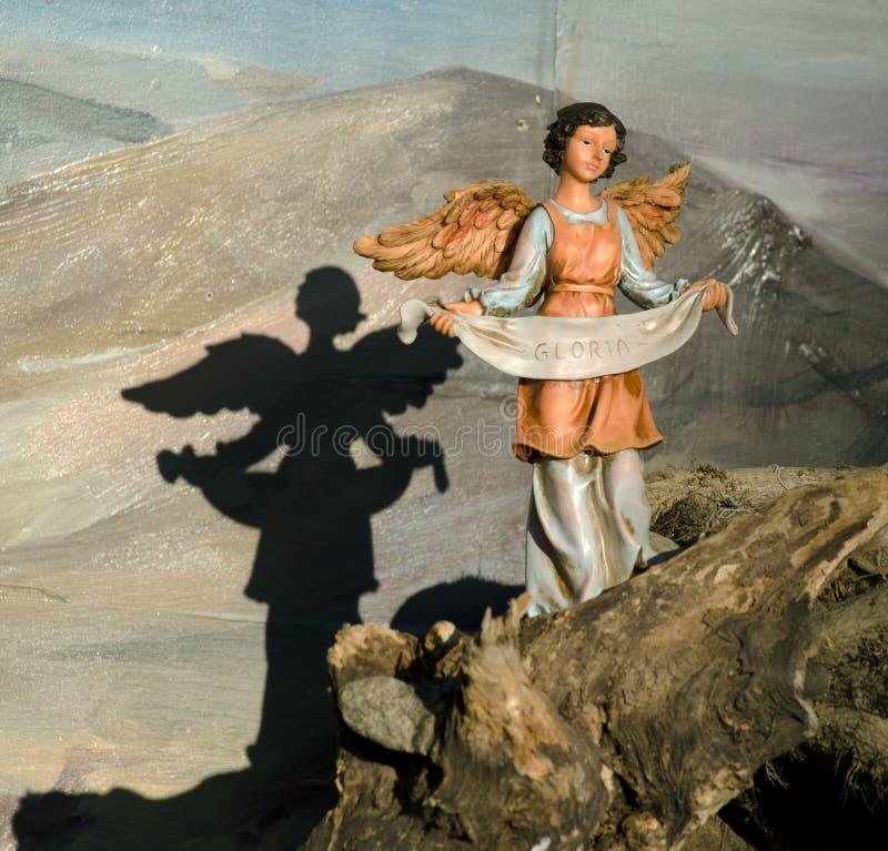 Estatuilla de la natividad del ángel fotos de archivo libres de regalías