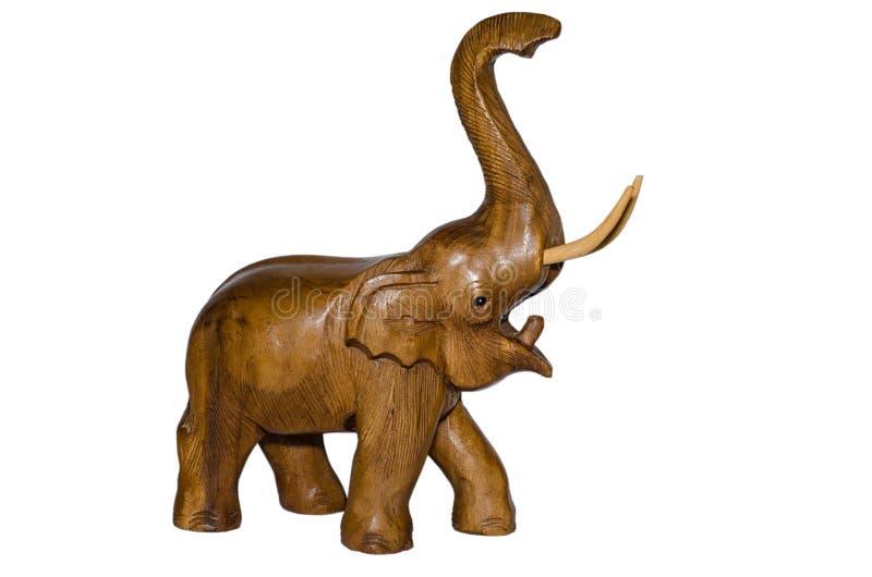 Estatuilla de madera del elefante fotografía de archivo