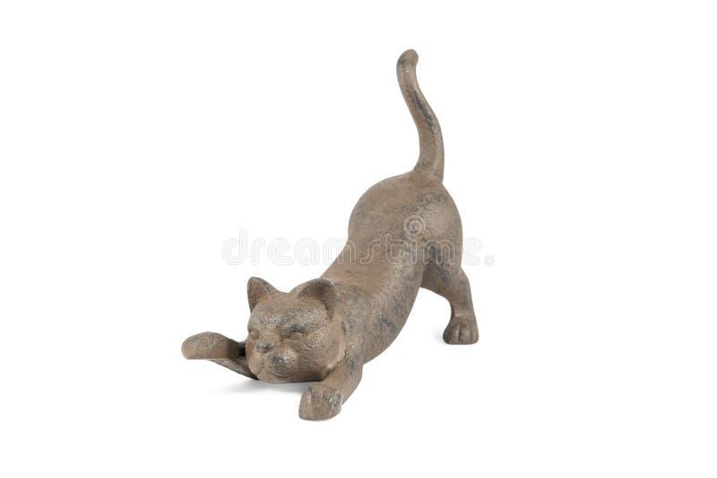 Estatuilla de mentira del gato fotos de archivo