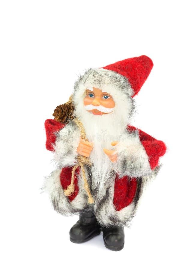 Estatuilla de Santa Claus en el fondo blanco imagen de archivo