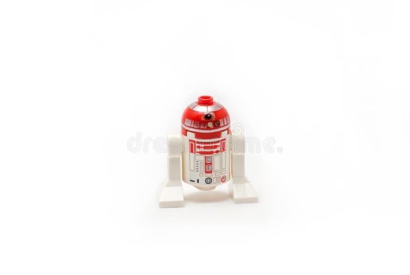 Estatuilla de Star Wars Lego - Droid imagenes de archivo