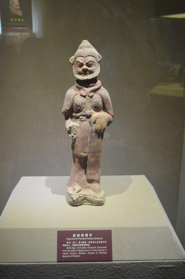 Estatuilla del general pintado de la cerámica imagenes de archivo