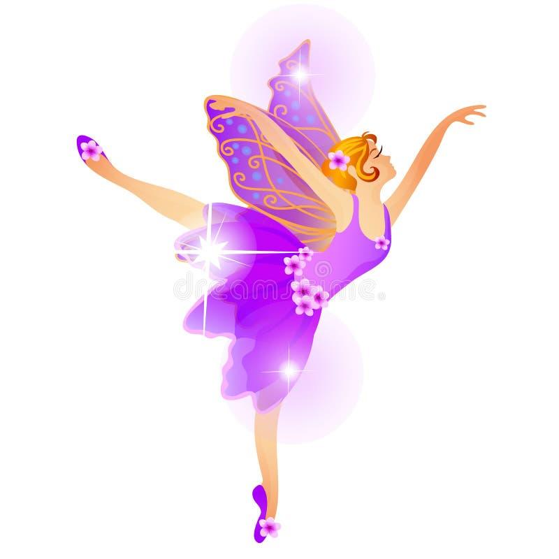 Estatuilla linda de la Navidad bajo la forma de bailarina de baile aislada en un fondo blanco Primer de la historieta del vector ilustración del vector