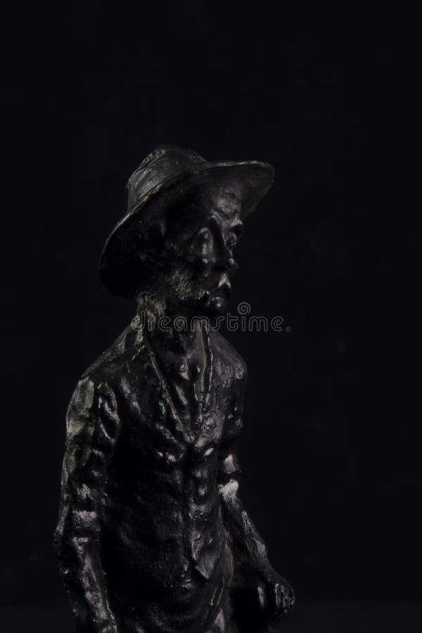 Estatuilla negra del carbón fotos de archivo libres de regalías