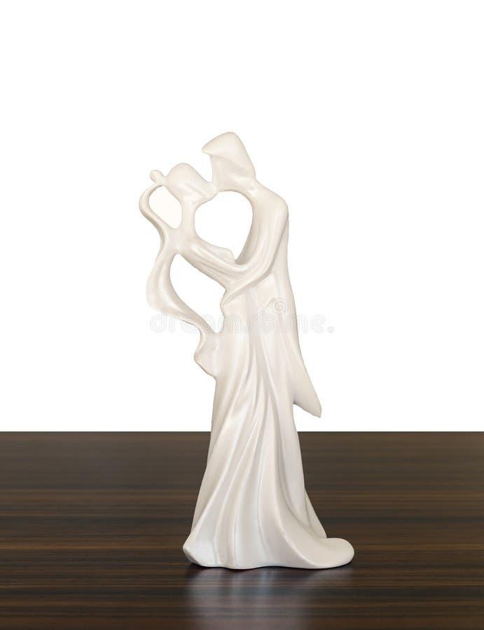 Estatuilla para el pastel de bodas fotos de archivo