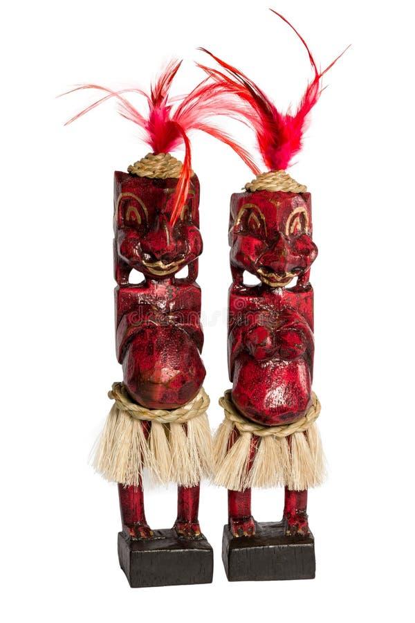 Estatuillas africanas de los naturales imagenes de archivo