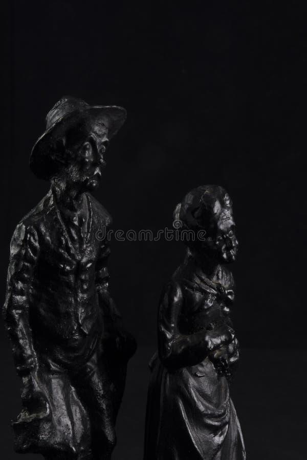 Estatuillas negras del carbón foto de archivo libre de regalías