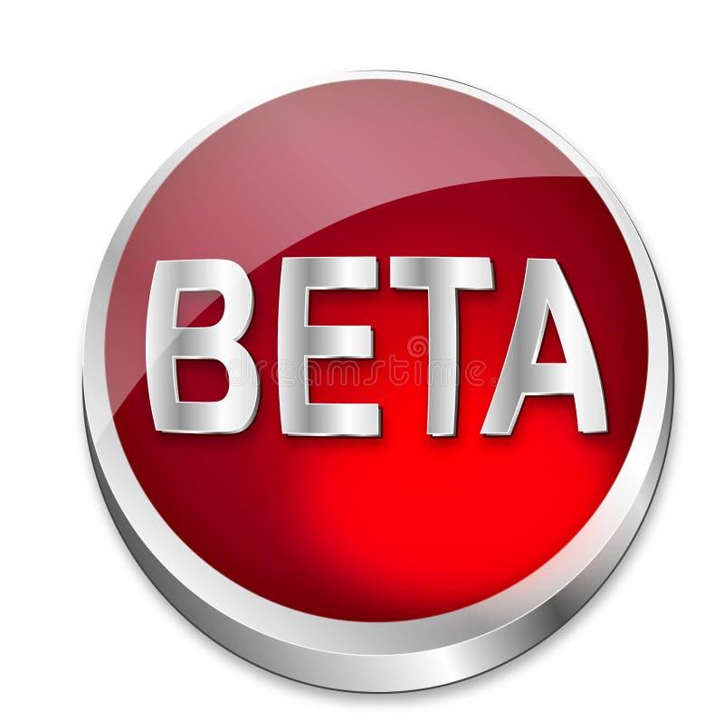 Estatus beta del botón libre illustration
