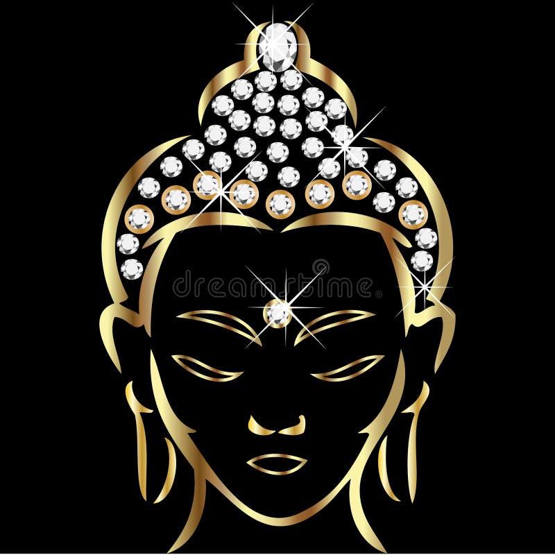 Estatus de buddha del oro libre illustration